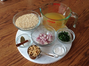Israeli Couscous Ingredients
