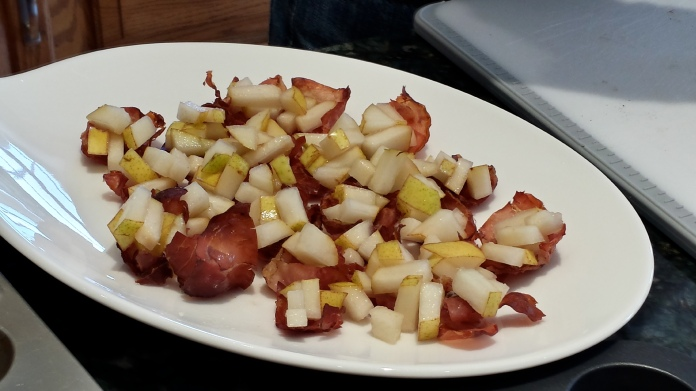 Prosciutto Cups with Fresh Pears