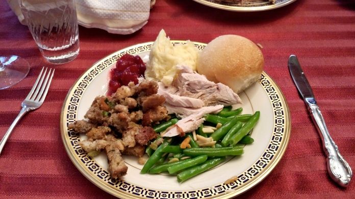 A plate with Grandma's Holiday (Dressing) Stuffing