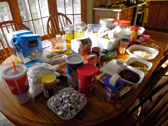 Some ingredients from 2012's Holiday Baking Day