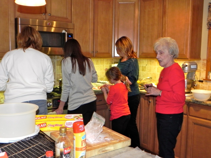 It takes a village… to do the holiday baking!