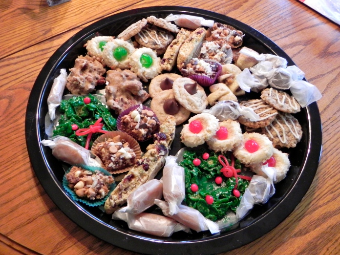 One of our cookie trays - this one went to the monks