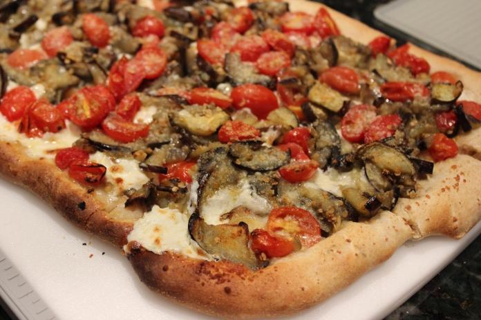 The Don's Roasted Cherry Tomato, Eggplant and Mozzarella Pizza