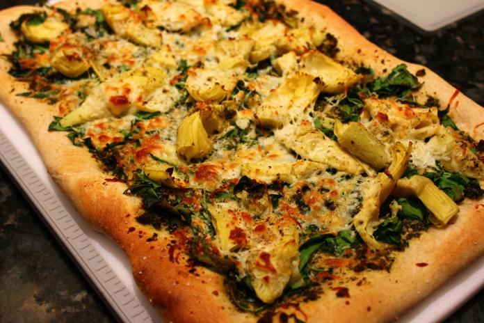 The Don's Pesto, Spinach and Artichoke Pizza