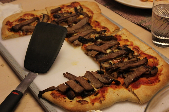 The Don's Filet, Mushroom and Provolone Pizza