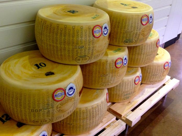 Parmigiano Reggiano at Eataly