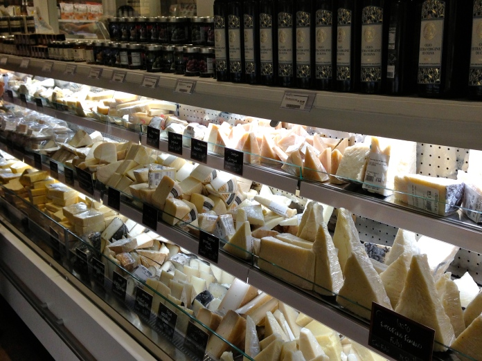 Just some of the cheeses available at Eataly… don't worry there are a lot more!