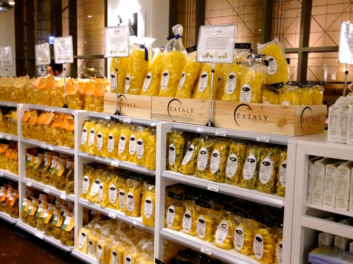 One pasta aisle at Eataly