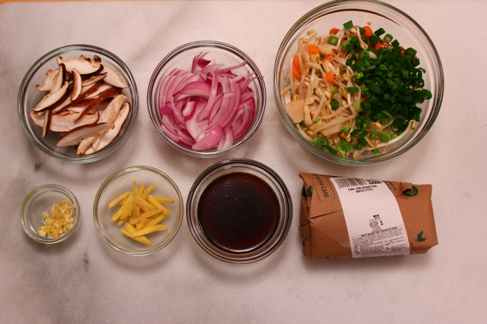 Ingredients for Sung Choi Bao of Pork (Lettuce Wraps)