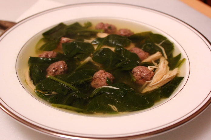 Chicken Soup with Escarole and Polpettini