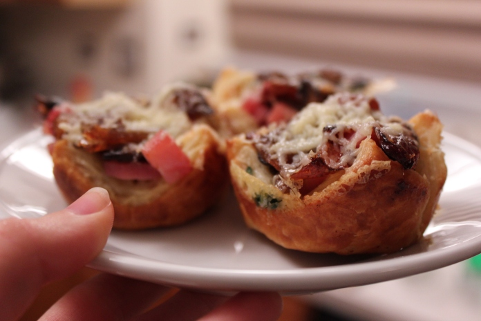 Gruyere, Ham, Mushroom & Caramelized Shallot Puff Pastry Bites
