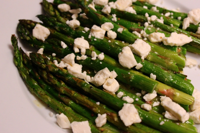 Asparagus with Champagne Vinegar and Feta