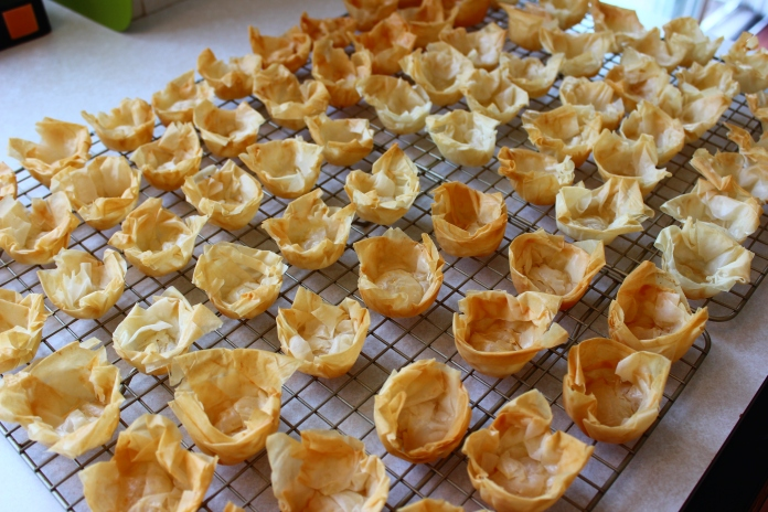 Phyllo Pastry Cups   www.morewinelesswhines.com