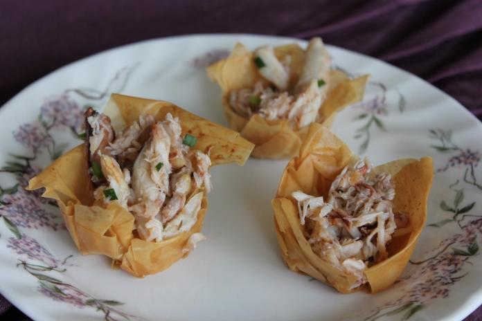 Crab Salad with Champagne Vinaigrette www.morewinelesswhines.com
