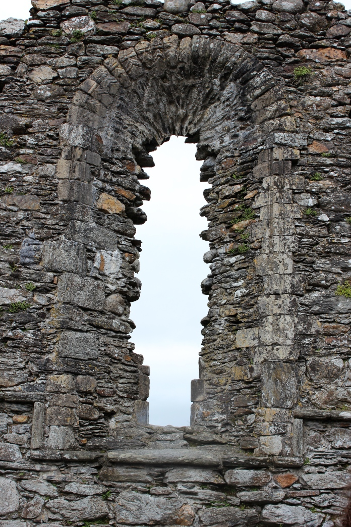 Window in remains of a church building - Glendalough, County Wicklow, Ireland   www.morewinelesswhines.com