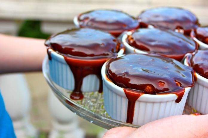 Sticky Toffee Pudding in Ramekins     www.morewinelesswhines.com