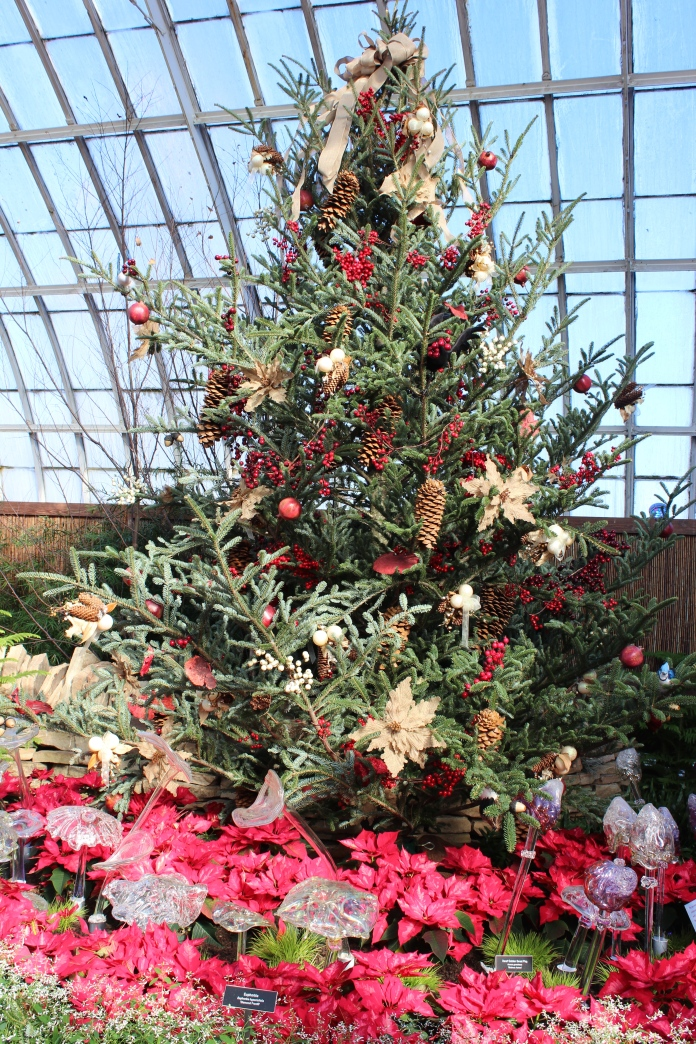 One of the decorated trees at Phipps Conservatory     www.morewinelesswhines.com