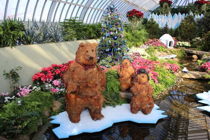 Eco bears at the Phipps Conservatory    www.morewinelesswhines.com