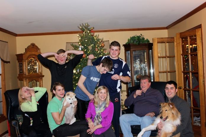 Blaney Family New Years Photo 2015     www.morewinelesswhines.com